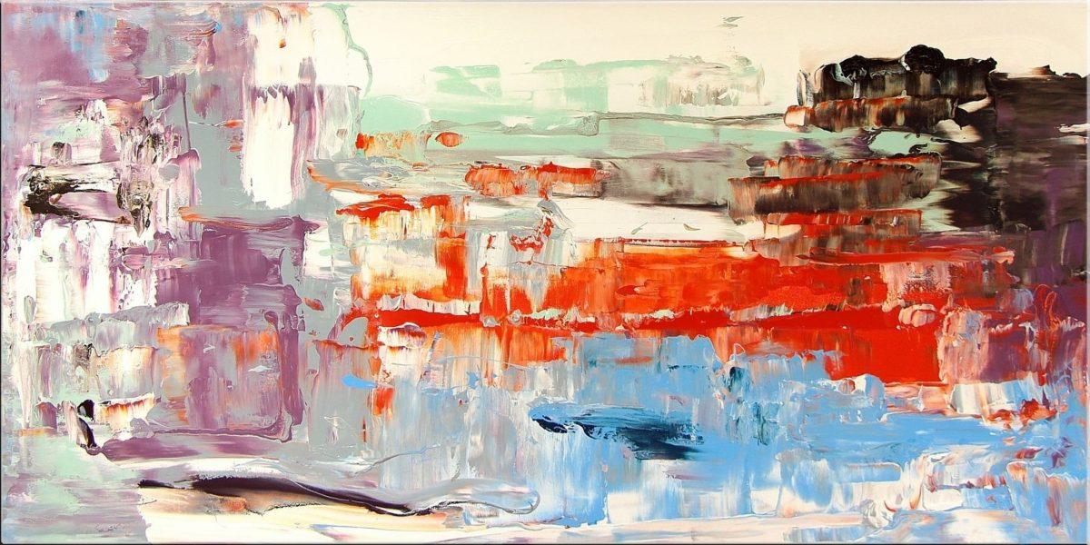 Original Gemälde von Noah de Jong Die Orangene Lichtung