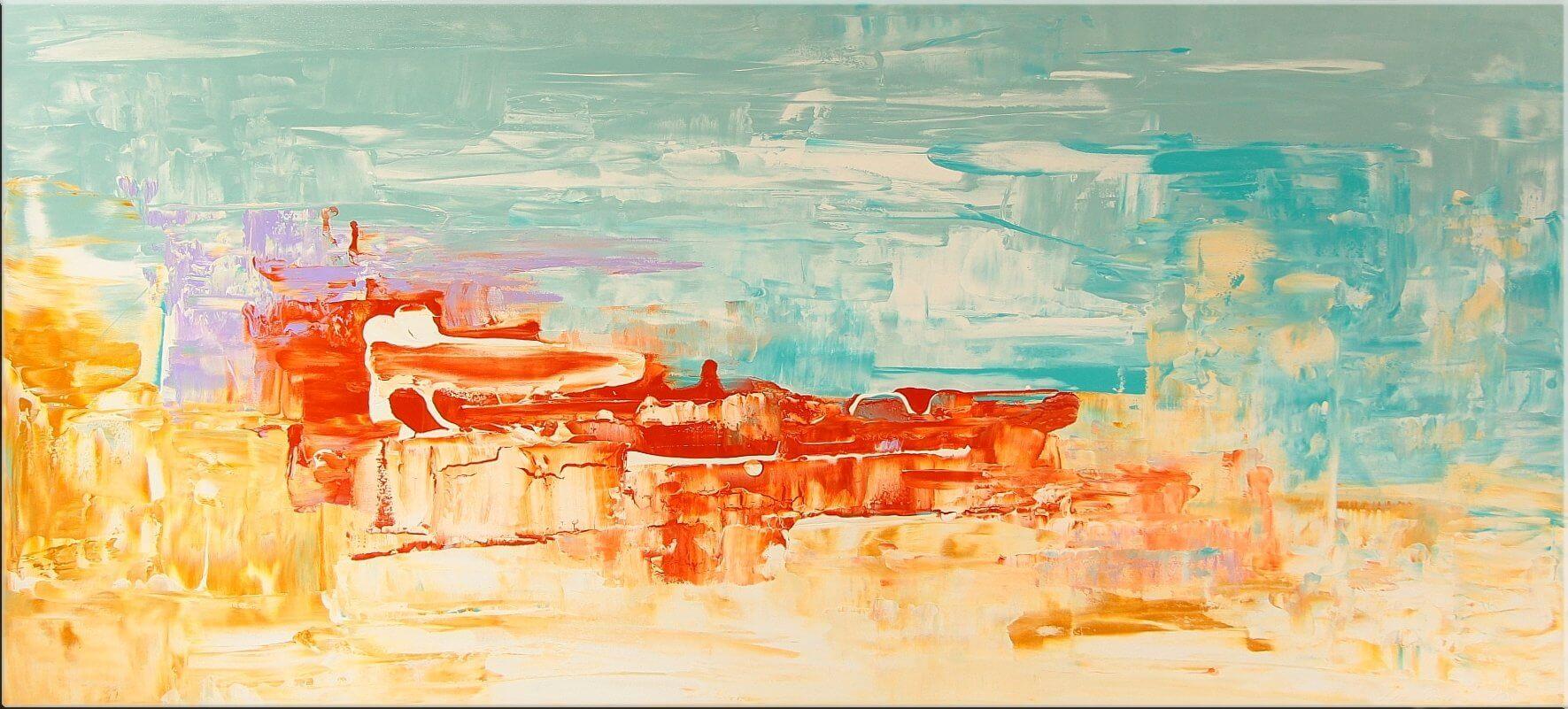 Original Gemälde von Noah de Jong Am Strand von Malibu