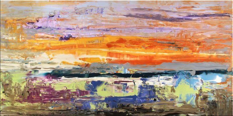 Original Gemälde von Noah de Jong Blauer See
