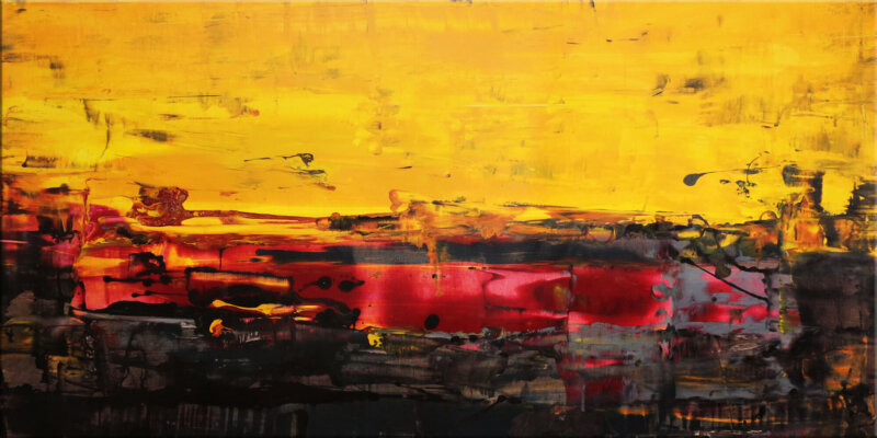 Original Gemälde von Noah de Jong Magische rote Felder