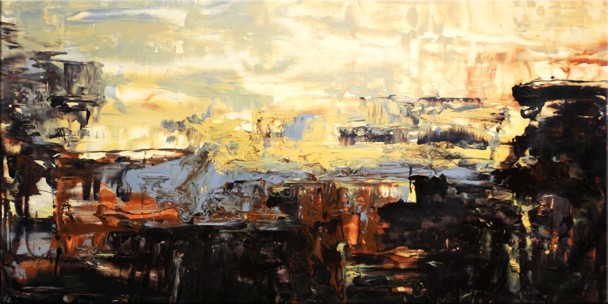 Original Gemälde von Noah de Jong Abendhimmel