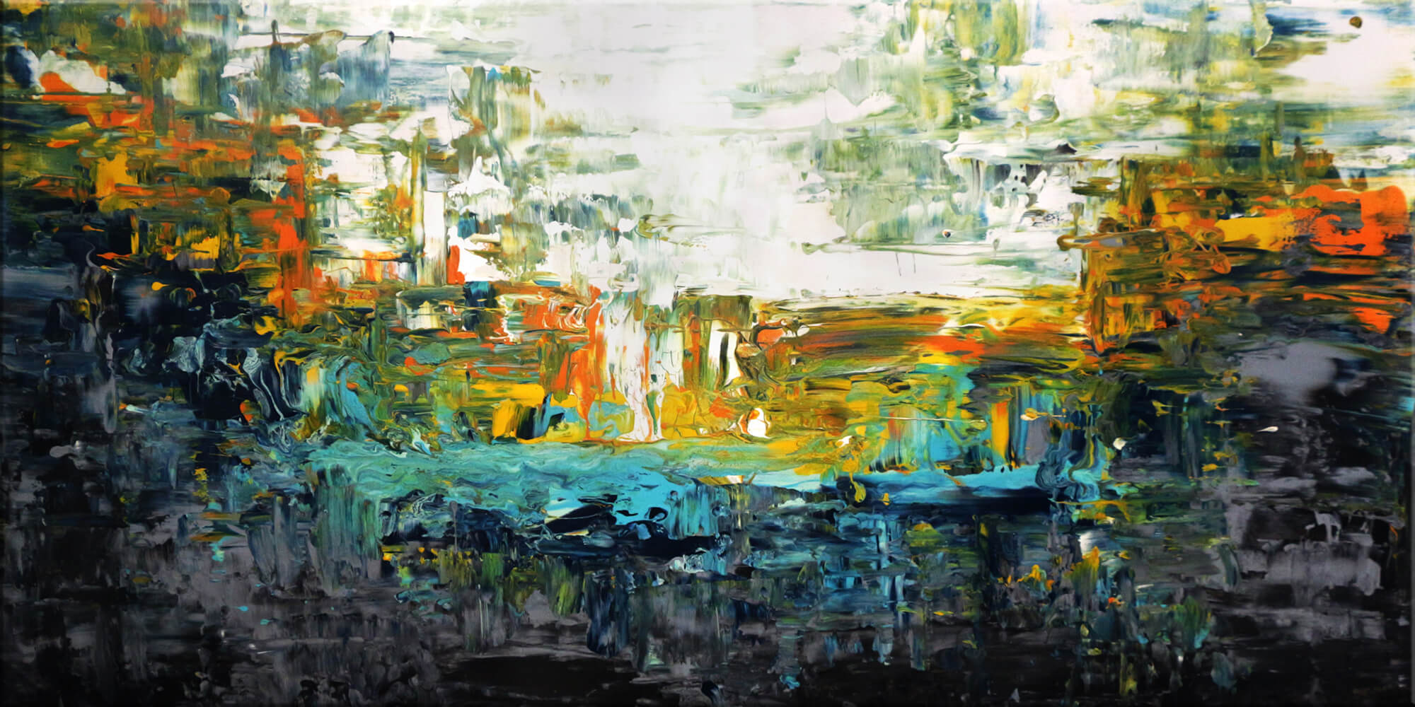 Original Gemälde von Noah de Jong Magischer Fluss
