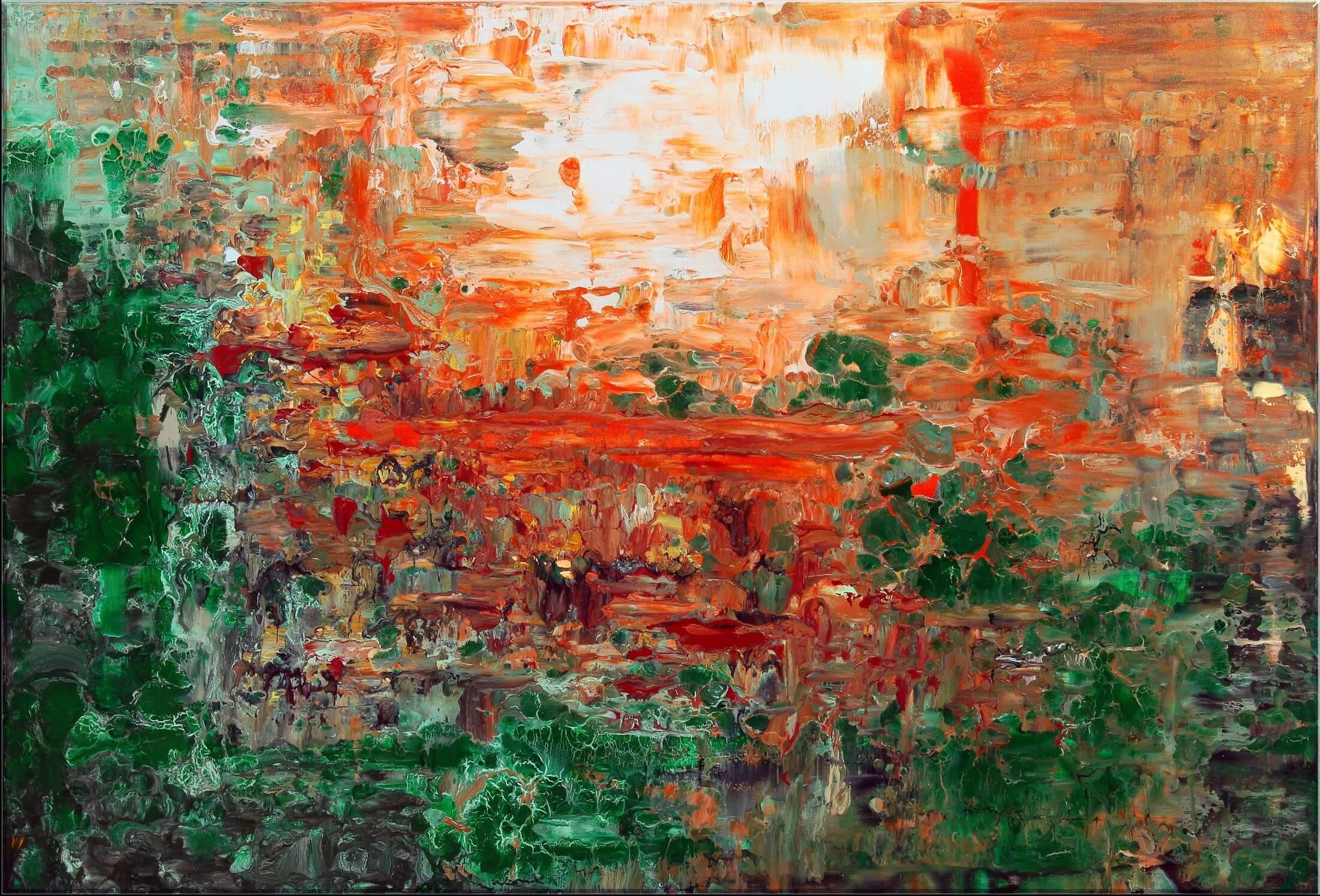 Original Gemälde von Noah de Jong Orangene Insel