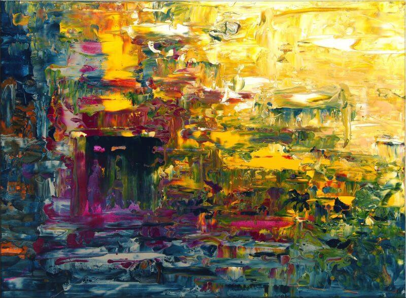 Original Gemälde von Noah de Jong Im Lan der Sonne
