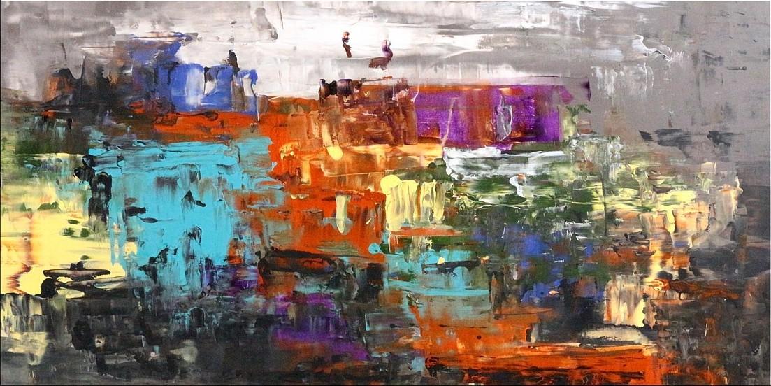 Original Gemälde von Noah de Jong Eine Million Lichter